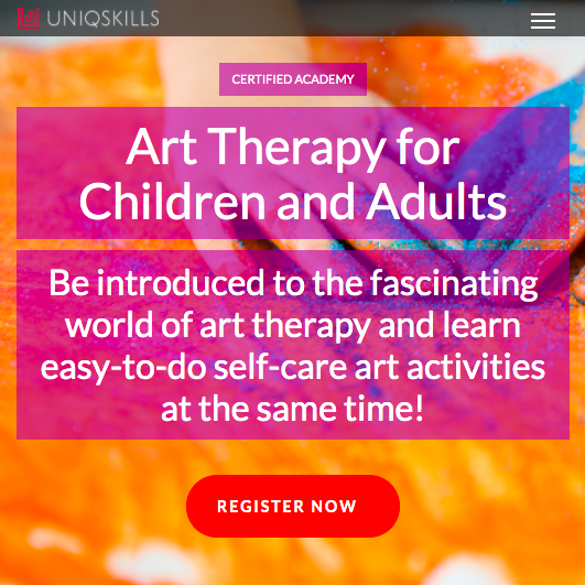 Uniqskills Online Course Art Therapy Solace Psychotherapy