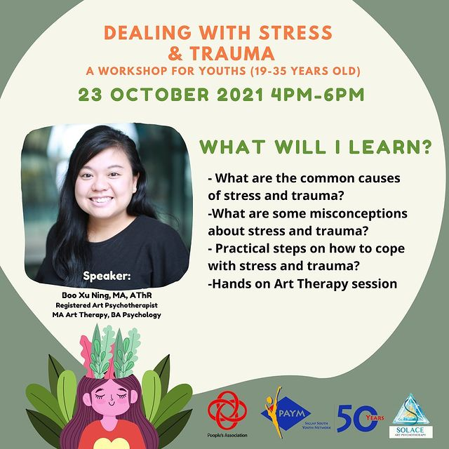 Siglap South Community Centre Youth Network Stress Trauma Art Therapy Square