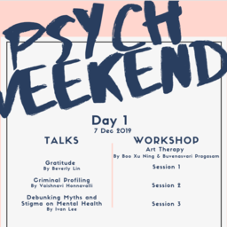 Psych Weekend by Singapore Psychological Society (SPS) - Dec 8, 2019-2